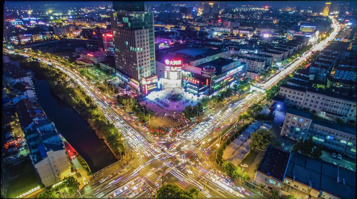 平湖南市繁華實景圖圖片